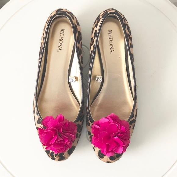 Merona shoes leopard print flats bright pink flower poshmark merona leopard print flats bright pink flower mightylinksfo